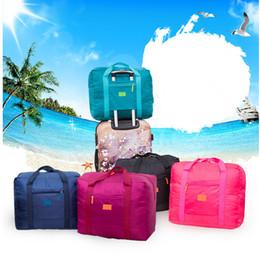 Wholesale Organizer Travel Handbags - Travel Luggage Bag Foldable Travel Storage Luggage Carry-on Organizer Hand Shoulder Duffle Bags Folding Holder Handbag Tote KKA1374