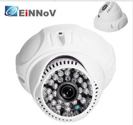 Wholesale Cmos Color Dome - HD 1300TVL CMOS Indoor dome Color 48IR CCTV wide angle Security Camera 3.6mm blcak and wihte for optional