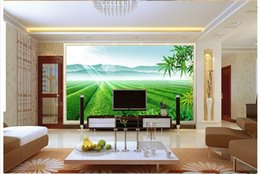 Wholesale Tea Sound - 3D photo wallpaper custom 3d wall murals Tea garden landscape murals 3d living room wall decor