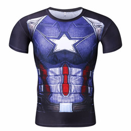 Wholesale Mma Shorts For Men - New Marvel Superhero summer Soldier Bucky 3D Men T Shirt for MMA out door sports thai chi wing chun shirt running polo