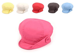 Wholesale Red Cotton Twill Fabric - Stand Focus Women Hat Cap Cabbie Newsboy Gatsby Baker Boy Ladies Fashion Cotton Twill Fabric Spring Summer Pink Red Yellow Brown Blue Causal