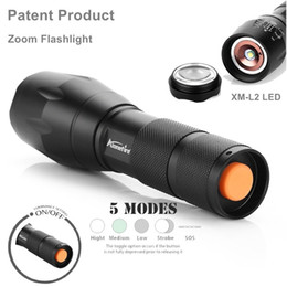 Wholesale L2 Flashlight - AloneFire E17 LED Flashlight 18650 zoom torch waterproof flashlights XM-L2 4000LM 5 mode led Zoomable light