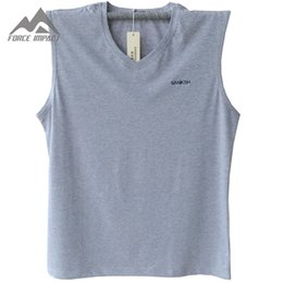 Wholesale Sexy Tall Man - Wholesale- Classic Fashion Men's Undershirts Big & Tall Plus Size Men's Tees New Sleeveless Solid Casual Men's Tank Top PF11 On Sale