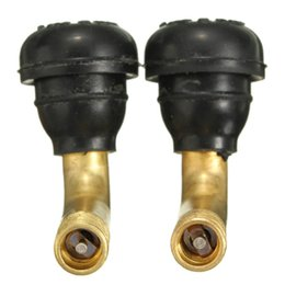 Wholesale Rubber Tire Valve - 2Pcs Rubber Brass Long Shank Extension Adaptor Motorcycle Motorbike 90 Degree Angle Tyre Tire Valve