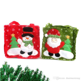 Wholesale Elderly People - Christmas supplies elderly people snowman gift bags snowflake gift bags candy bags Xmas decorations packaging handbags KT0542