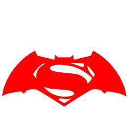 Wholesale batman car window - Wholesale 10pcs lot Movie Heroes Save Humanity Batman V Superman Dawn of Justice Logo Sticker for Truck Window Door Car Styling Vinyl Decal