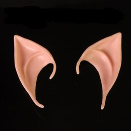 Wholesale Latex Ear Tips - Wholesale- 2016 Skull Mask Tokyo Ghoul Hot Masks Latex Fairy Pixie Elf Ears Cosplay Accessories Halloween Soft Pointed Prosthetic Tips Ear