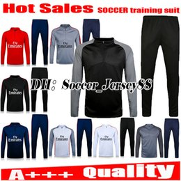 Wholesale Men Longsleeve - 2017 trainingsuit kits NEYMAR JR tracksuit jacket longsleeve soccer Jersey pants DI MARIA CAVANI VERRATTI LUCAS PASTORE PSGEN MATUIDI