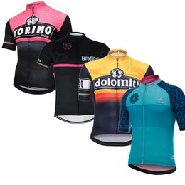 Wholesale Sportwear Set - Pro Team Tour De Italy D'ITALIA Cycling Jersey Bicycle Clothing Bike Ropa Ciclismo hombre Short Sleeve Set Sportwear E2303
