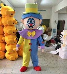 Wholesale free comedy - Free Shipping Clown Magician Event Comedy Mascot Costume Fancy Party Dress Halloween Carnivals Costumes With High Quality For Adult