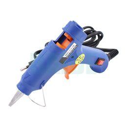 Wholesale Industrial Repairs - 20W EU US Plug Hot Melt Glue Gun Industrial Mini Guns Thermo Electric Gluegun Heat Temperature Tool Graft Repair DIY 50pcs lot