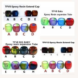 Ausgleichsbehälterdeckel online-Qualität Epoxidharz Ausdehnungsgefäß Ersatz Harz Tube Caps für SMOK TFV12 TFV8 Baby Big Baby Tank Zerstäuber Vape