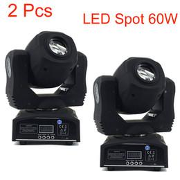 Wholesale fast master - 2 Pcs 60w Led Spot Light 7 Gobos Moving Head Light DMX 9 11 Channels Light Master-Slave Auto Run Sound Controller Fast Shipping