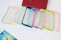 Wholesale Transparent Phone Cases For Sale - Best quality hot sale Hybird color soft rubber protector frame of Tpu Bumper phone bags cases for Samsung Galaxy s6 covers
