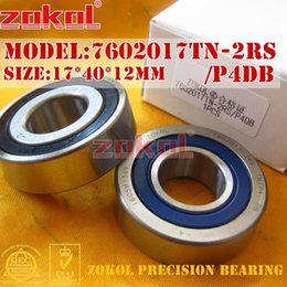 Wholesale 12mm Ball Bearings - ZOKOL bearing 7602017 TN 2RS P4 TBT C 760203 2RSTBT Axial Angular Contact Ball Bearing 17*40*12mm