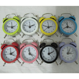 Wholesale Circular Color Clock - Creative burst Pocket Mini alarm clock stainless steel metal material