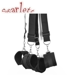 Wholesale Top Couples Sex Toys - Top Quality Under Bed Restraints Sex Toys For Couples bdsm Bondage Handcuffs+Legcuffs Wrist Ankle Restraint Slave Sex Toys
