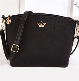 Wholesale Imperial Gold - Wholesale-New fashion women crossbody bag casual small imperial crown Shoulder Bags Shell messenger bags fashion 2016 women bag Z-153