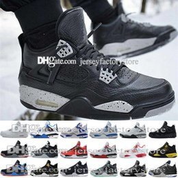 Wholesale Cheap Breathable Waterproof Fabric - Cheap NEW hight quality waterproof retro 4 men basketball shoes all white cheap mens Basketball Men Athletic Shoes for sale free shipping