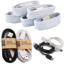 Wholesale Iphone Sync Cord Led - Best Price Factory Sale 1M 3Ft Type-C Micro USB Data Sync Cable Charging Charger Cables Wire Cord Leads