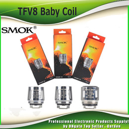 Wholesale Coil Head Core - Original Smok TFV8 Baby Coil Head V8 Baby T8 T6 X4 Q2 0.4 0.6ohm M2 0.15ohm 0.25ohm Core Replacment coil 100% Authentic SmokTech 2218043
