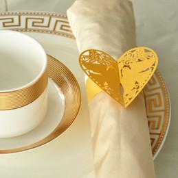 Wholesale Gold Wedding Serviette - Wholesale- 50pcs lot Gold Pigeon Napkin Buckles Paper Napkin Rings For Wedding Party Decoration Wedding Favors Serviette Porta Guardanapo