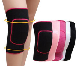 Wholesale Knee Support Pair - 1 Pair Thick Soft Sport Knee Protector Support Tennis Volleyball Dance Running Gym Sports Training Exercises Knee Pads For Kids Girls Boy