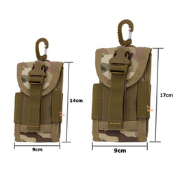 Wholesale Mobile Phone For Army - Wholesale- 2017 New travel kit 5.5 inch Universal Army Tactical Running Bag for Mobile Phone Hook Cover Pouch Case high Quality 456