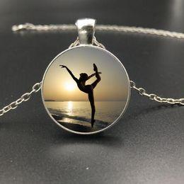 Wholesale Ballerina Jewelry Silver - Free Shipping Fashion Jewelry 3 Styles Dancing Ballerina Pendant Ballerina Glass Dome Pendant Necklace Silver Necklace Gift