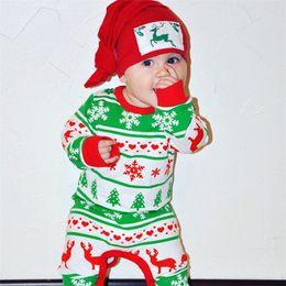 Wholesale Festival Boy - European America Fawn Style Christmas Romper Baby Infant Festival Romper Suit Size 70 - 80 - 90 - 100 Wholesale 2108057