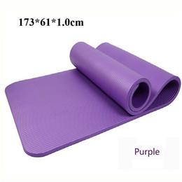 Wholesale Dance Mat Pad - Wholesale-10MM NBR Non-slip Yoga Pilates Mat  Pad Sit-up Durable Exercise Mat Baby Crawling Mat Outdoor Mat Dance Pad(173*61*1.0 cm)