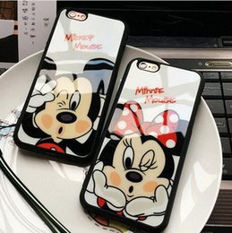 Wholesale Mouse Silicon Case - Fashion Cartoon Lovers Mickey Mouse Minnie cover soft TPU silicon case For iPhone 7 SE 5 5s 6 6s   plus 7 plus funda Coque cases