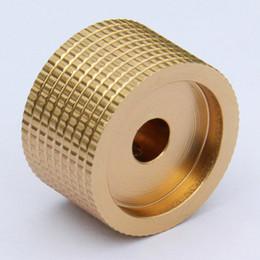 Wholesale Amplifier Volume Knob - free shipping gold switch knob HIFI electronic potentiometer DIY Digital part Sound volume switch knob Tube Amplifier knob