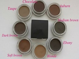 Wholesale Wholesale Hot Chocolate Mix - HOT Pomade Medium Brown Waterproof Makeup Eyebrow 4g Blonde Chocolate Dark Brown Ebony Auburn Medium Brown TALPE Soft Brown