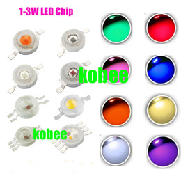 Wholesale High Power Led Chip Yellow - Wholesale- 10pcs High Power 3W LED Chip 3 W Natural Cool Warm White Red Blue Green Yellow Light 3 watt SMD Intergrated for Spotlight