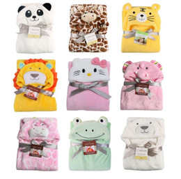 Wholesale Plain Clothes Wholesales - Cartoon Baby Blanket Swaddle Infant Bedding Quilt Sleeping Bag Baby Clothing Sets Envelope Newborns Kawaii Kids Cloak
