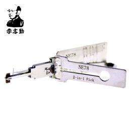 Wholesale Groove Pick - Original Lishi NE78 2in1 Decoder and Pick for Peugeot 406 Side Groove 4-Track, 100% Original Lishi Lock Picks from Mr. Li Factory