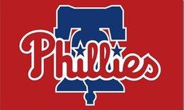 Wholesale Phillies Flag - Philadelphia Phillies Flag 150CM*90CM 3*5FT Polyester Custom Banner Sports Flag P4
