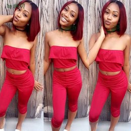Wholesale Cute Red Wigs - Cheap Fashion Cute Two Tone Color Black Root Ombre Wine Red Straight Short Bob Synthetic Lace Front Wig Heat Resistant For Black Women