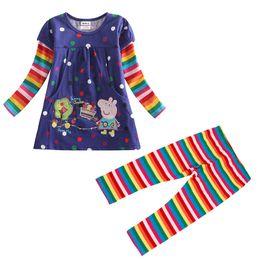 Wholesale Nova Kids Clothes - Wholesale- Children girls clothing set Nova newest kids clothing sets Sping Autumn long sleeve t shirt+leggings sets for girls clothes