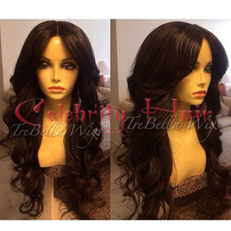 Wholesale Synthetic Wavy Hair - Full hair full lace wig real hair natural looking synthetic lace wig high ponytails anywere part high ponytails long wavy