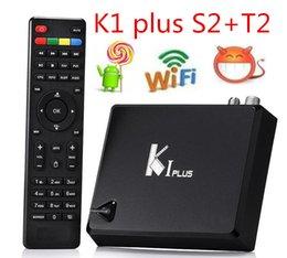 Wholesale Dvb Combo - DVB S2 + DVB T2 k1 Plus Set Top Box 1G 8G Android 5.1 Smart TV DDRIII 4K HD Support DVB-S2+T2 Combo TV Receiver