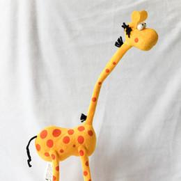 Wholesale Cute Giraffe Plush Toys - 35cm Cute Cartoon Giraffe Plush Toys Stuffed Animals Dolls for Children Birthday Christmas Gifts Wedding Party Decor
