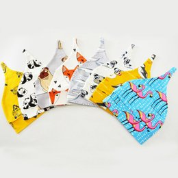 Wholesale Head Wrap Toddler - Baby Pointy Hat Cartoon Cute Flamingo Skull Caps Cotton Printed Toddler Newborn Infant INS Head Wraps Beanies 8 Styles 50pcs OOA2612