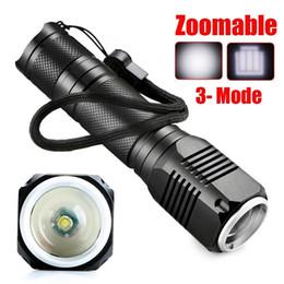 Wholesale Torch High Quality Diving - High quality Portable Flashlight linternas flash Torch Light backlight Convex lens Super Bright blinding effect night light