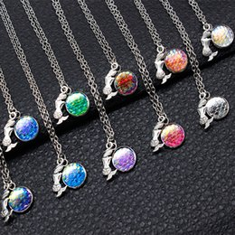 Wholesale Mermaid Mix - Ocean Series Multicolor Mermaid Jewelry Mermaid & Mermaid Scale Necklace Charm Mixed Wholesale On Behalf Of The Delivery