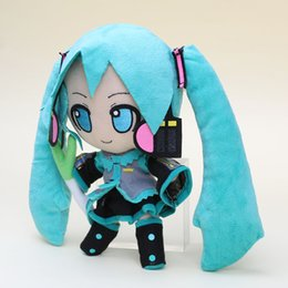 Wholesale Dolls Vocaloid Miku - 24cm Japanese anime Hatsune Miku VOCALOID Smile Stuffed Soft Doll Plush Toy Gift childrens christmas gift