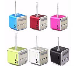 Wholesale Mini Speaker For Pc Laptop - TD-V26 Mini Speaker Music Player Micro SD TF USB Portable FM Radio Stereo Loudspeaker for Phone Laptop Mobile PC MP3 W