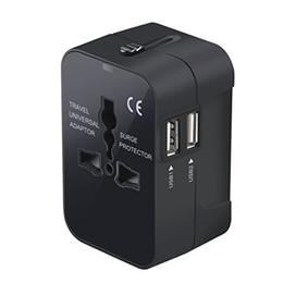 Canada Adaptateur de voyage, dans le monde entier dans un chargeur universel de mur d'adaptateur de prise de courant alternatif de mur d'adaptateur de voyage universel avec de doubles ports de remplissage d'USB Offre
