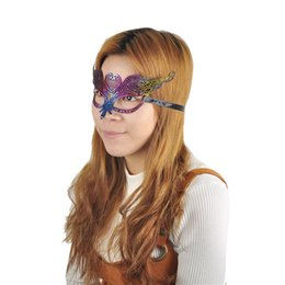 Wholesale Disco Dresses - hot silver sexy lady lace mask cutout eye mask for masquerade party fancy dress costume girls women sexy masks for christmas disco venetian